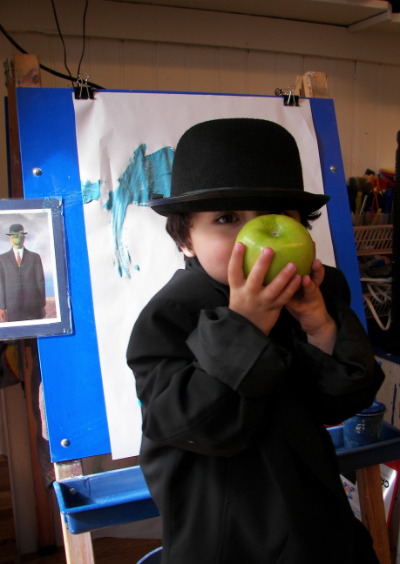 Cropped Kid In A Bowler Hat